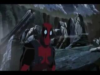 Deadpool's parts in Hulk Vs Wolverine.