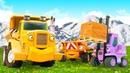 Синий Трактор и друзья на Стройке! Мультики про машинки для малышей