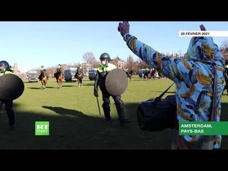 Pays-Bas : un énorme pique-nique contre les mesures anti-Covid à Amsterdam dispersé par la police