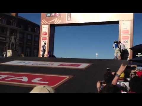 Robby Gordon jump at the Dakar Podium Cerimony/Dakar 2012