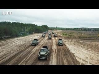 Военный парад на учениях под Нижним Новгородом.