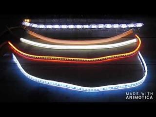 Обзор гибких  ДХО с бегающим поворотом с Алиэкспресс.Дневные ходовые огни на ВАЗ 2114,2113,2115