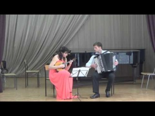 Niccolo Paganini - Sonatina in A Minor/Natalia Kostenko(domra),Sergey Neverov(bayan)