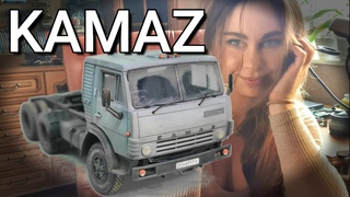 КАМАЗ обзор, полная сборка и окраска масштабной модели грузовика. AVD Models. Моделизм