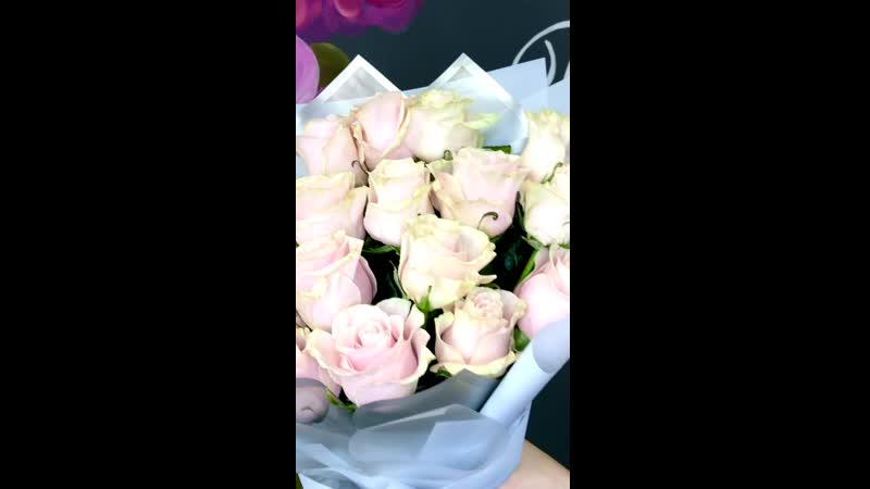 Нежный букет роз для любимой дочки 🌺🌺🌺 Состав 19 роз Эквадор 2300₽