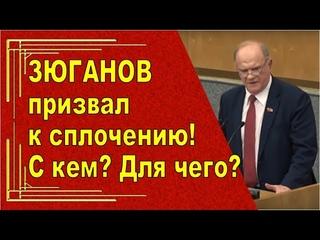 Разоблачение Зюганова в Госдуме .