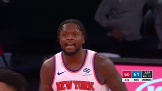 New York Knicks forward Julius Randle scored 40 points, 11 rebounds and 6 assists in 41 minutes