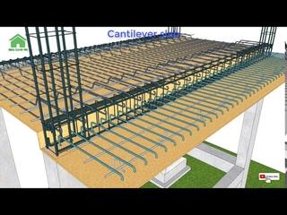 Cách bố trí thép sàn conson và sàn một phương   Green House Construction