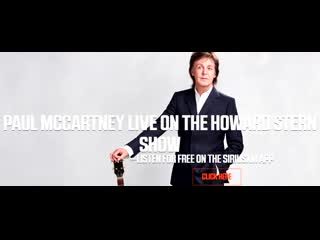 Paul McCartney joins Howard live on the Stern Show