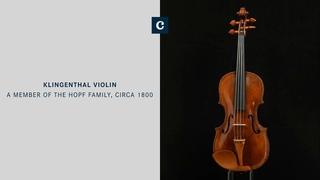 Antique Klingenthal violin, made by a member of the Hopf family (probably David Hopf senior)