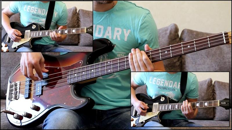 Как играть на бас гитаре Кончится лето КИНО видеоурок Guitar riffs табы