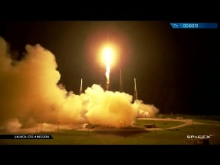 Launch of SpaceX Falcon 9 with CRS-4 for International Space Station (SpaceX)