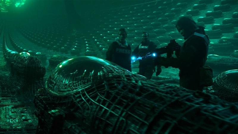 Загадочные сцены фильма Аванпост: масштабная перестрелка и столкновение с неземным