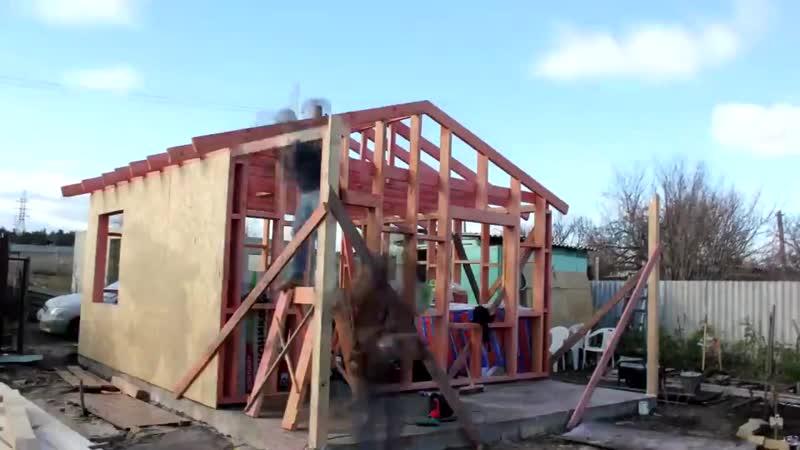 как построить каркасный дом 🔨