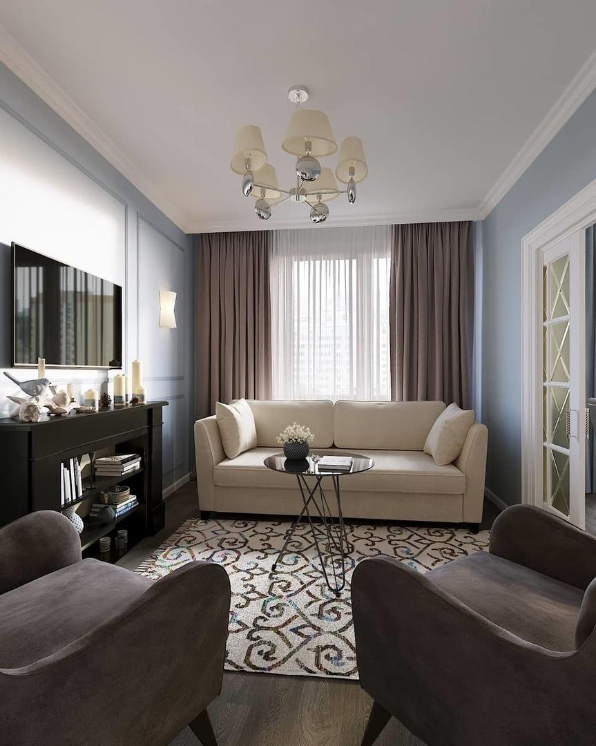 Дизайн-проект гостиной (12м²)