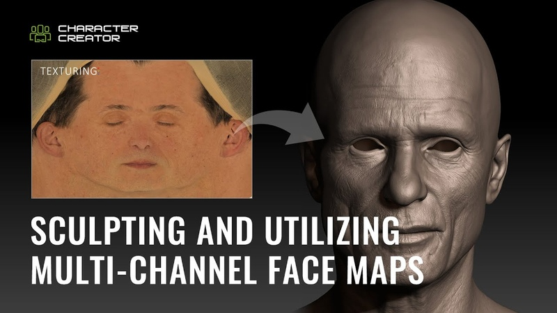Realtime Digital Double 2 Sculpting and Utilizing Multi channel Face Maps by Sefki Ibrahim