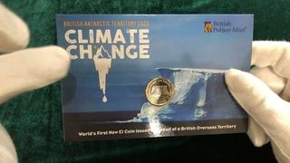 Первая монета в мире Британских Арктических территорий 1 фунт 2020. Официальный выпуск.