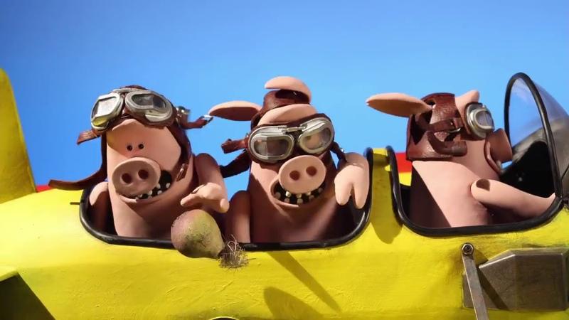 2 33 Барашек Шон Летающие свиньи Shaun the Sheep Pig Swill Fly HD