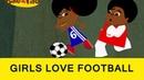 Girl Beats Boys At Football! - Bino and Fino