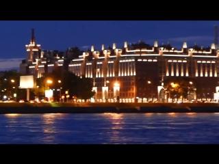 Ночной Санкт-Петербург. Белые ночи. Развод мостов в Питере