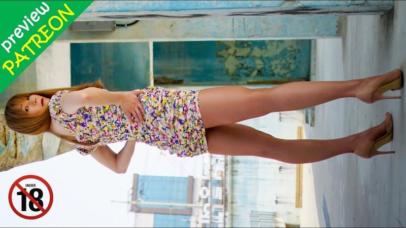 18 Patreon Preview Short Floral Dress Tan Pantyhose Sexy Crossdresser Boy to Girl
