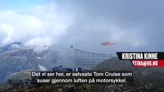 New video of Tom Cruise pulling off a massive stunt during the filming of Mission impossible 7