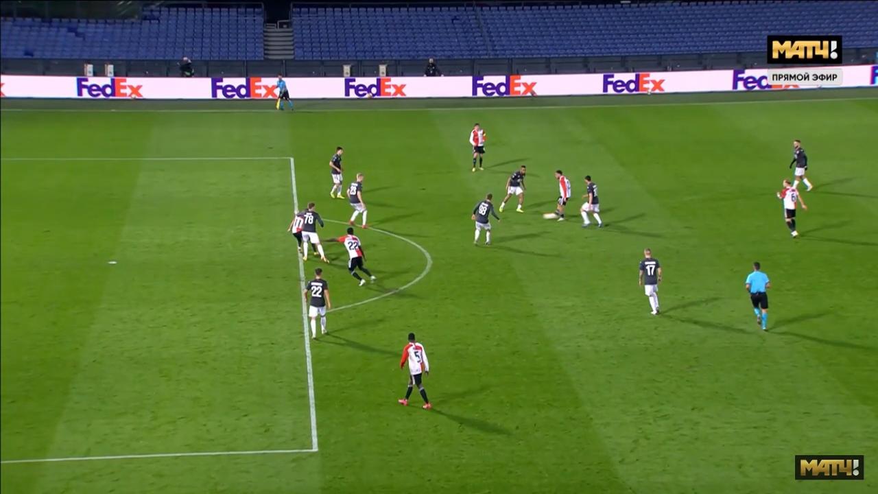 Фейеноорд - ЦСКА, 3:1. Лига Европы. Третий гол хозяев из офсайда