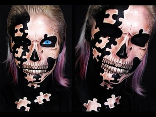 Puzzle Skull | Makeup Tutorial