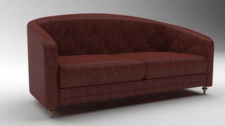 Autodesk 3ds Max  Lather Sofa Modeling