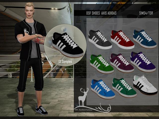 Обувь мужская для The Sims 4 со ссылками на скачивание