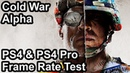 Call of Duty Black Ops Cold War PS4 vs PS4 Pro Frame Rate Comparison (Alpha)