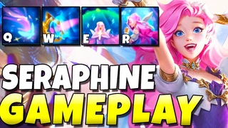 NEW CHAMPION SERAPHINE GAMEPLAY!!! IS SHE A SONA 2.0?? - League of Legends