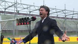 Formula 1, Gran Premio Imola 2021 Vittorio Grigolo canta l'Inno di Mameli |Sorvolo Frecce Tricolori|
