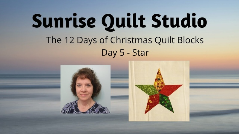 Star - The 12 Days of Christmas Quilt Blocks - Day 5