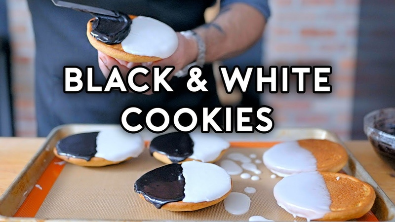 Binging with Babish Black White Cookies from Seinfeld