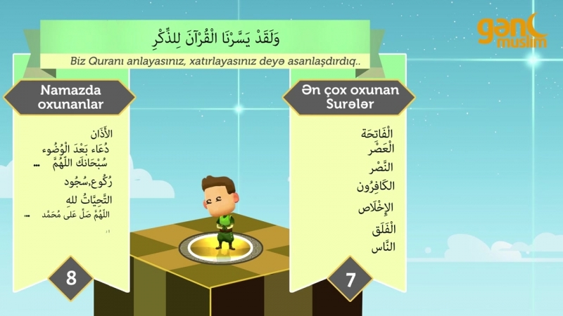 1a - Quran və namazı anlamağın asan yolu - Ərəb dili dərsləri - Gənc Muslim.mp4
