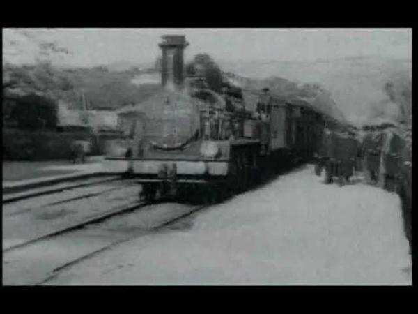 Прибытие поезда на вокзал Ла Сьота 1896