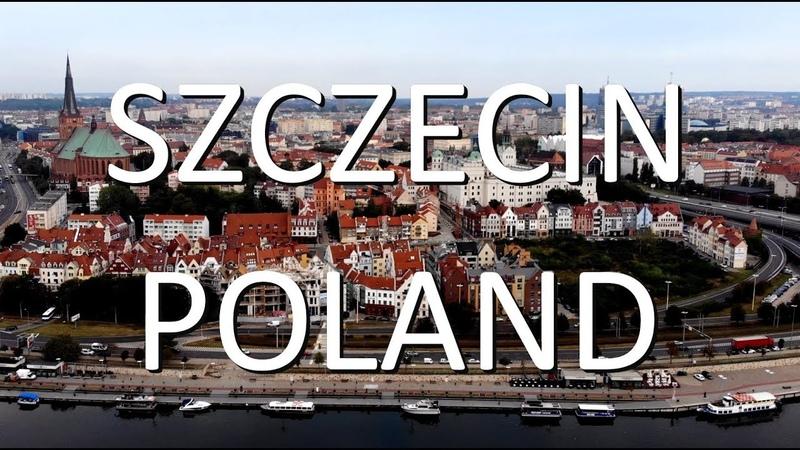 Szczecin 2020 z lotu ptaka Szczecin Poland by drone