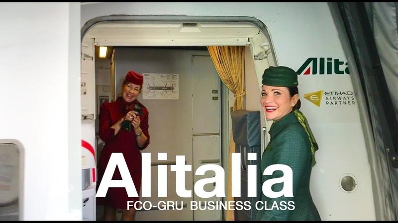 ALITALIA MAGNIFICA Business Class Roma - Sao Paulo   BOEING 777-200ER