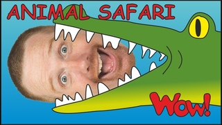 Animal Safari for Children + MORE English Stories for Kids   Steve and Maggie   Wow English TV
