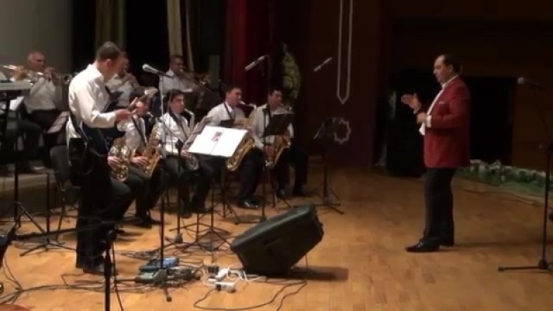BLACK JACK group with Jazz orchestra Rovshen Nepesov solo by Ruslan Ostapenko DURAN ERLERINE