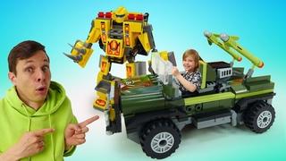 Игрушки конструкторы BLockformers - Игровой набор для мальчиков: собери робота своими руками!