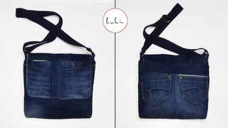 Buki | Jeans Bag Making | Back to School | DIY Jeans Tutorial Old Jeans Recycle Idea
