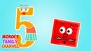 Изучаем цифру 5 ПЯТЬ Развивающие мультики для детей 0-5 лет.