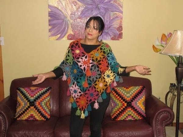 Crochet poncho otoño