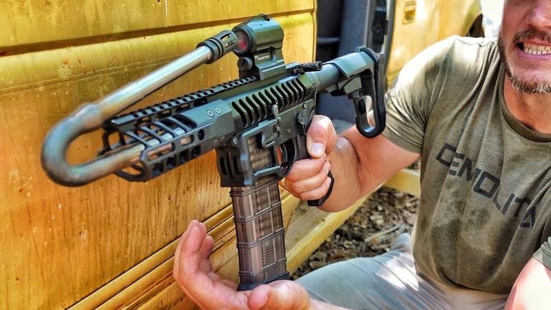 Выстрел из ОЧЕНЬ согнутого ствола... плохая идея! | Разрушительное ранчо | Перевод Zёбры