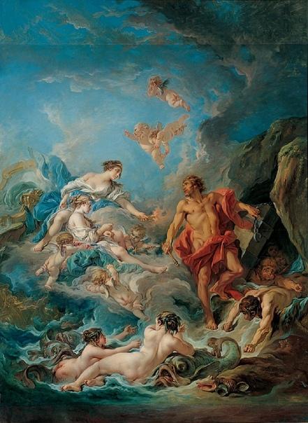 «Юнона посещает хранителя ветров Эола», Франсуа Буше
