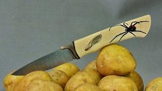 """Изготовление ножа """"Черная вдова"""" за 3000 американских рублей. Making a knife """"Black widow""""."""