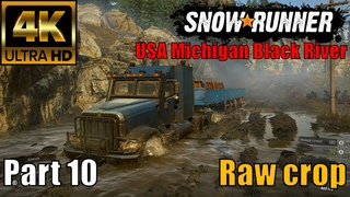 4K SnowRunner USA Michigan Black River Raw crop Part 10 🔴