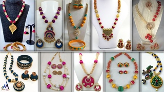 Fashion DIY! Handmade Silk thread Necklace Suitable On CropTops, GownDresses & Sarees